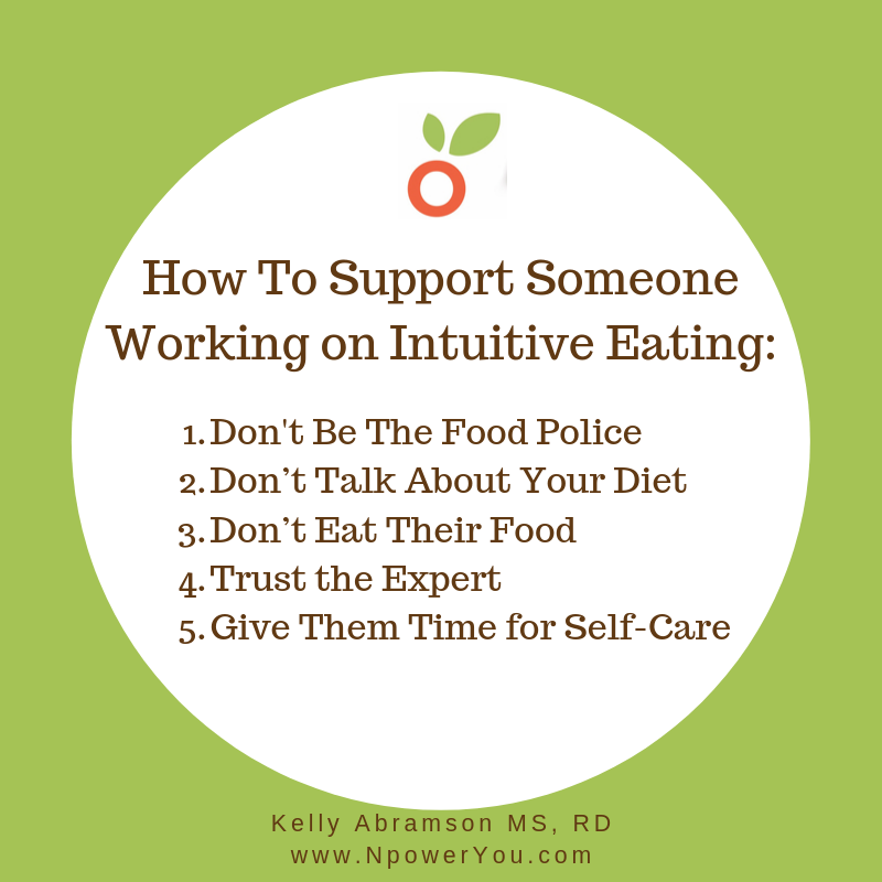 How to Support Your Family or Friend Who is Working on Intuitive Eating -  NpowerYou